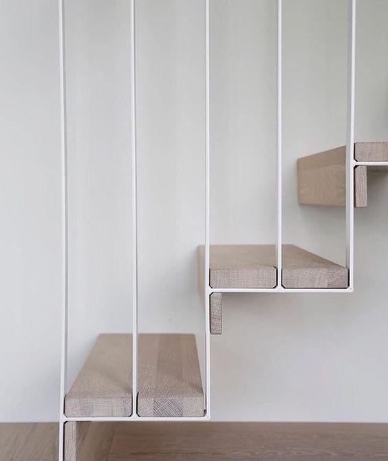 Treppe Holz Stahl weiss lackiert   Architektur   Pinterest ...