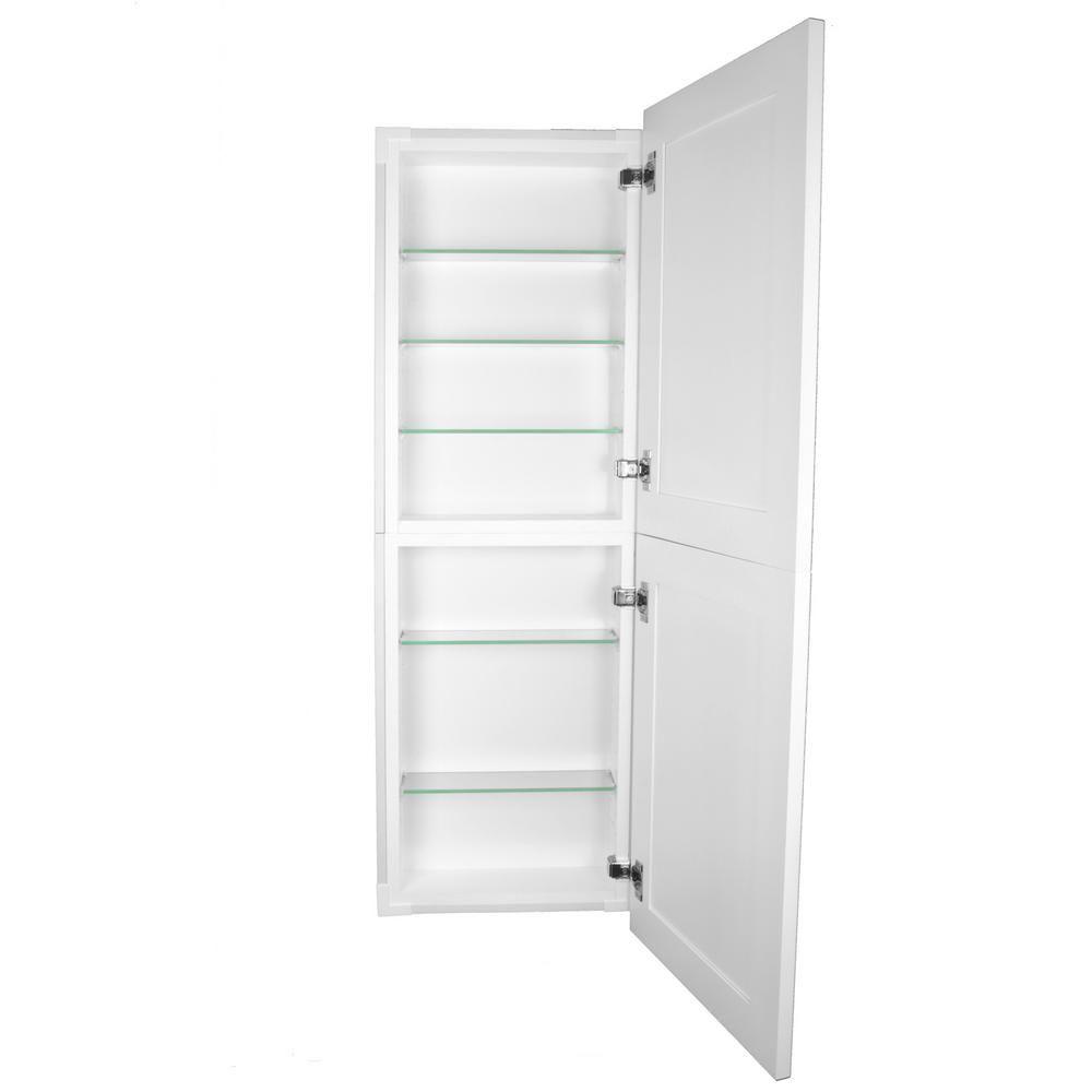Silverton 14 In X 50 In X 4 In Frameless Recessed Medicine Cabinet Pantry Fr 250 White Door White Doors Shaker Style Recessed Medicine Cabinet