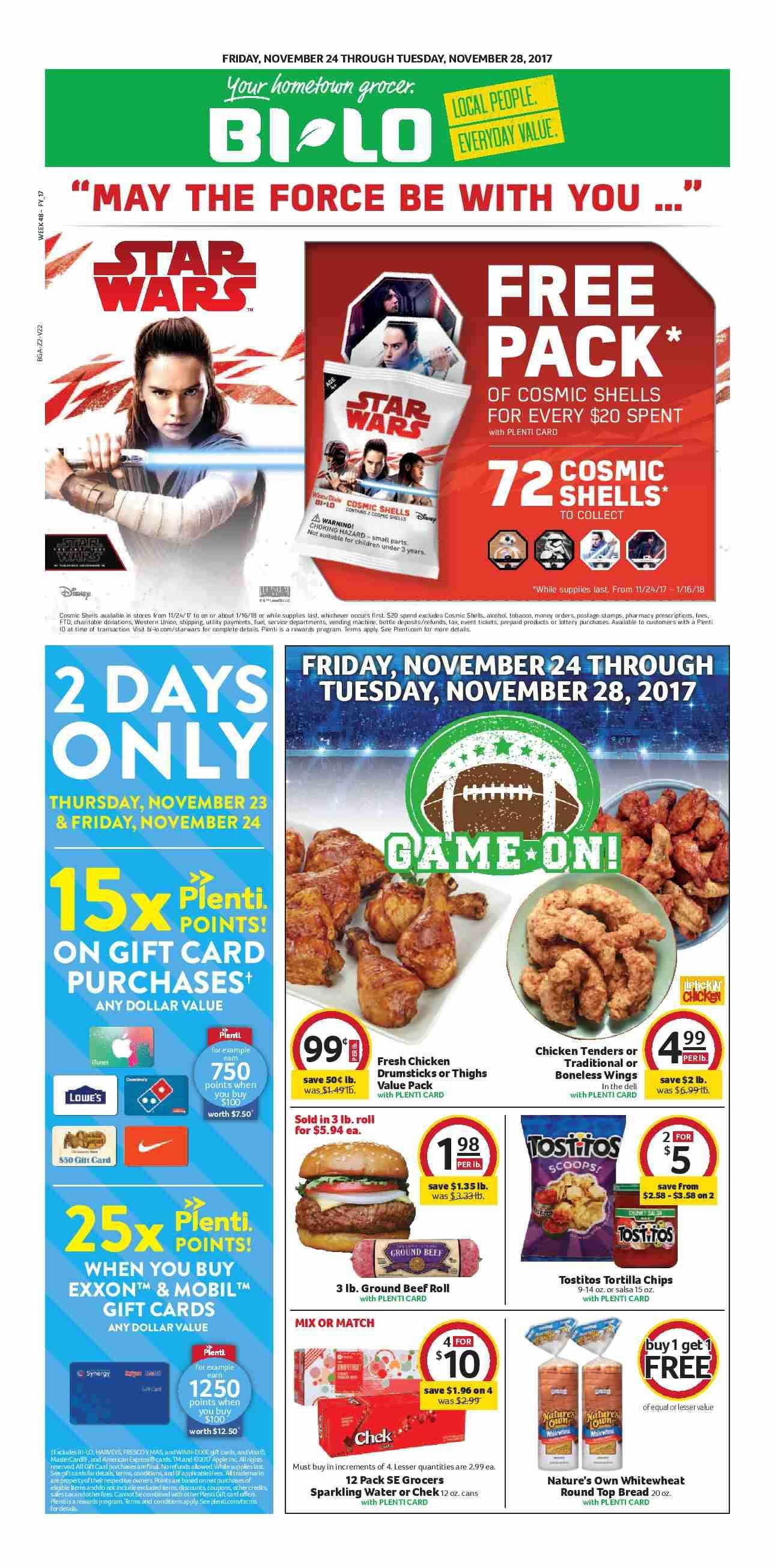 Bilo Weekly Ad November 24 28 2017 httpwwwolcatalogcom