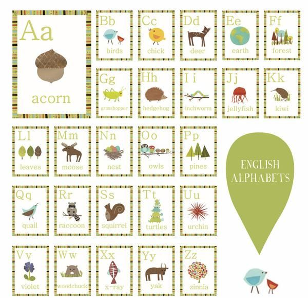 Nature Alphabet Wall Cards Set Of 26 Wall Cards Alphabet Wall Cards Alphabet Wall Art Wall Kids
