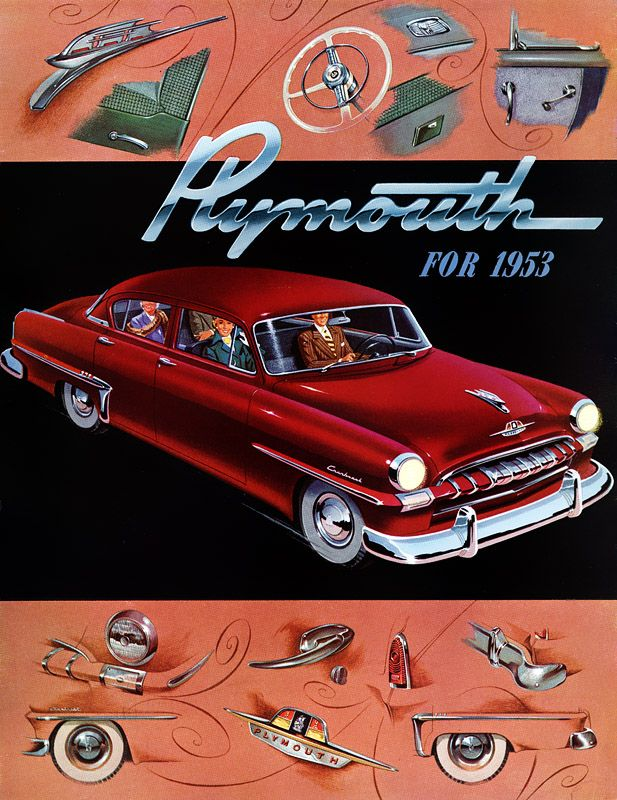 CARS Advertising Illustration - Plan59 :: Classic Car Art :: 1953 Plymouth