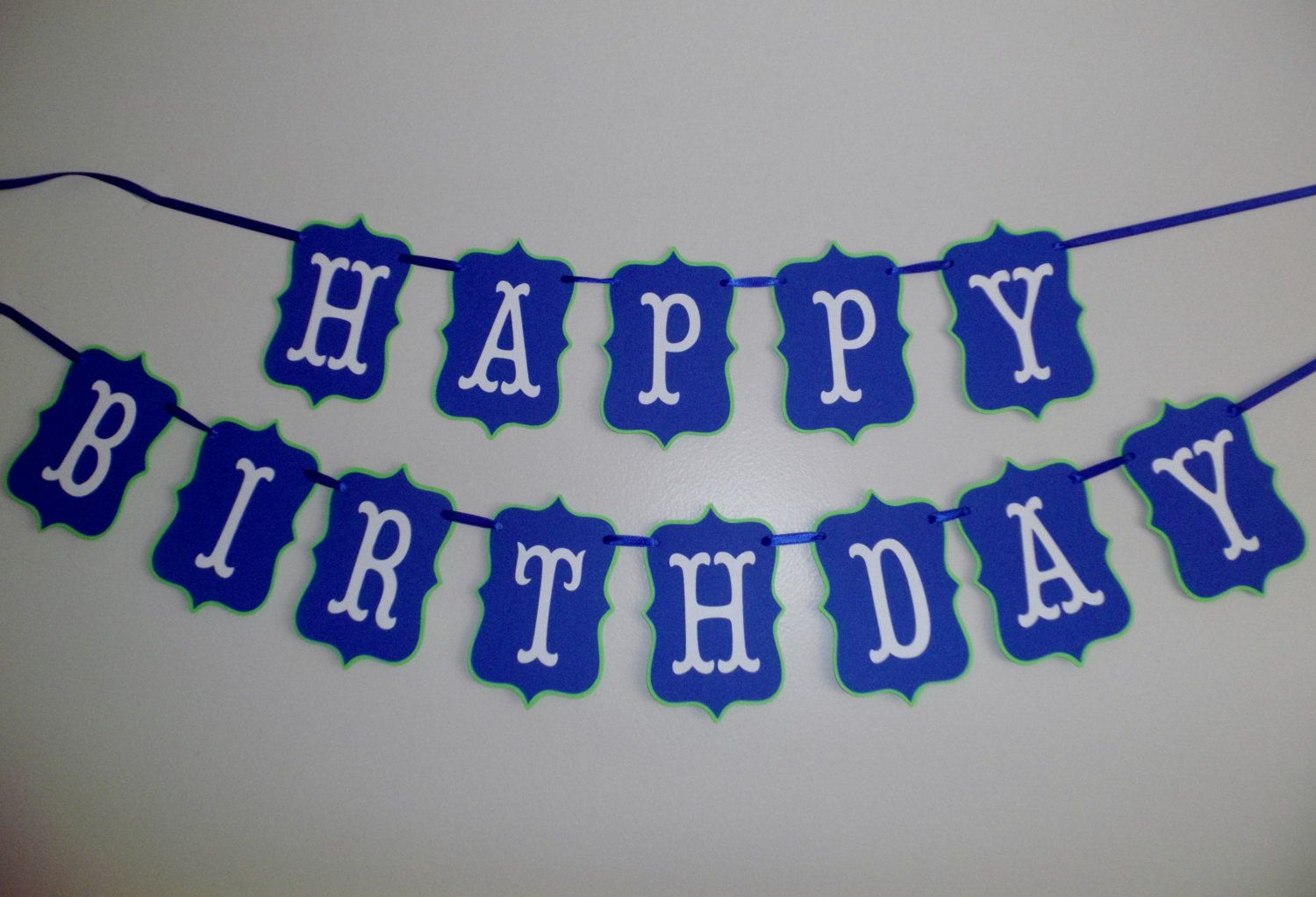 blue and green happy birthday bannerboy birthday boy party