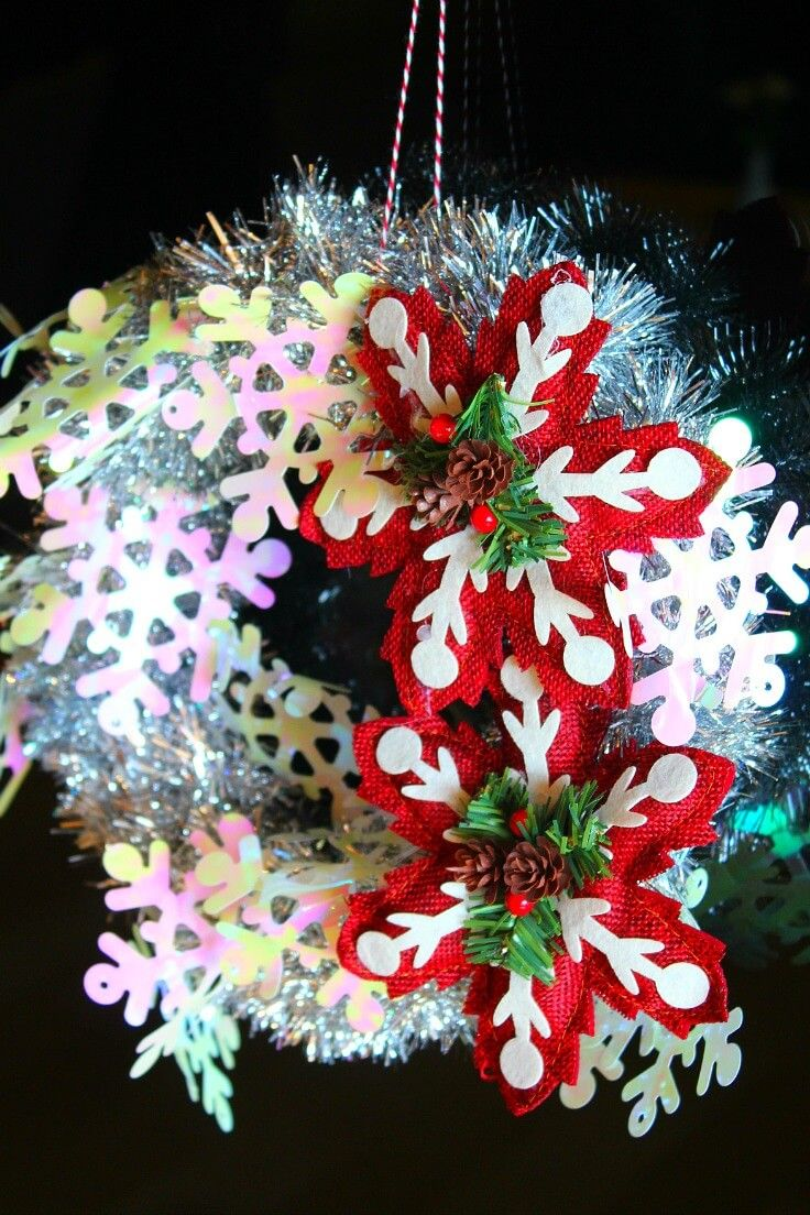 tinsel wreath diy Tinsel garland, Diy wreath, Family crafts