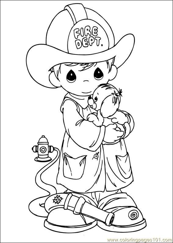 Precious Moments 52 Coloring Page Free Printable Coloring Pages