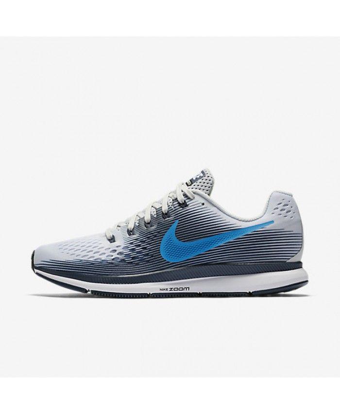 b6c0d1e14c0c4 Nike Air Zoom Pegasus 34 Pure Platinum Thunder Blue Black Photo Blue  880555-008