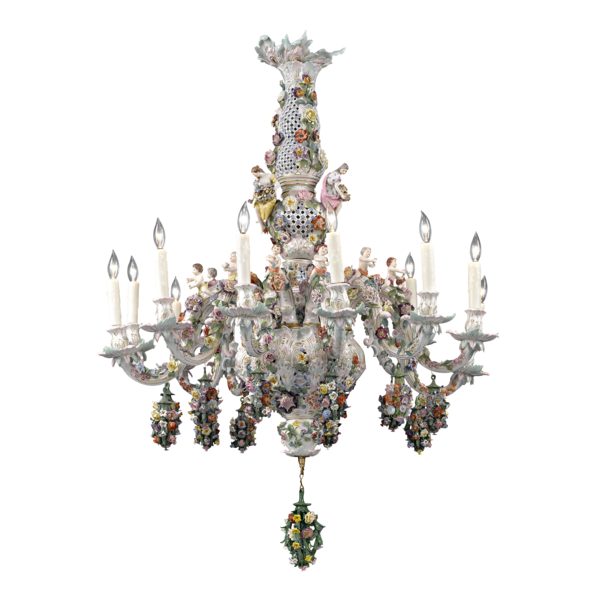 Antique Lighting Meissen Porcelain 12 Light Porcelain Chandelier M S Rau Antiques In 2020 Chandelier Lighting Chandelier Porcelain