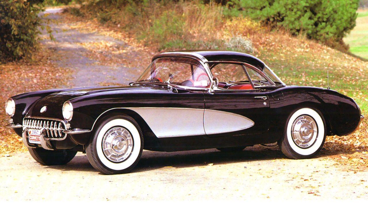 1957 Corvette Coupe W Black Hardtop Chevrolet Corvette Retro Cars Corvette