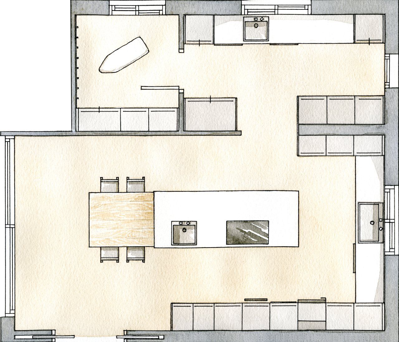 Un Office Acogedor Planos De Cocinas Planos De Casas Cocinas