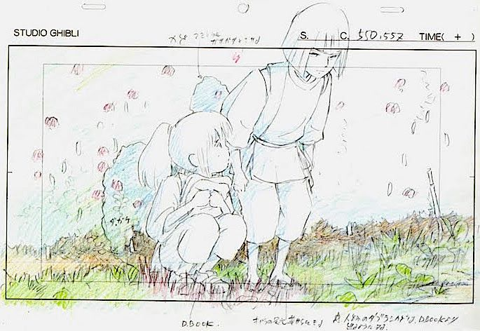 Film Spirited Away 千と千尋の神隠し Layout Design Scene The Comfort Of A Friend Hayao Miyaz Le Voyage De Chihiro Croquis D Anatomie Drawing