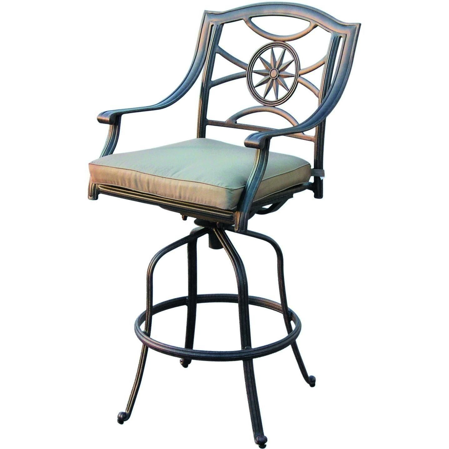 Awe Inspiring Darlee Ten Star Cast Aluminum Patio Swivel Bar Stool In 2019 Squirreltailoven Fun Painted Chair Ideas Images Squirreltailovenorg