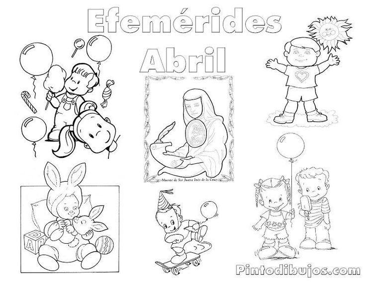 Fantástico Abril Para Colorear Modelo - Ideas Para Colorear ...