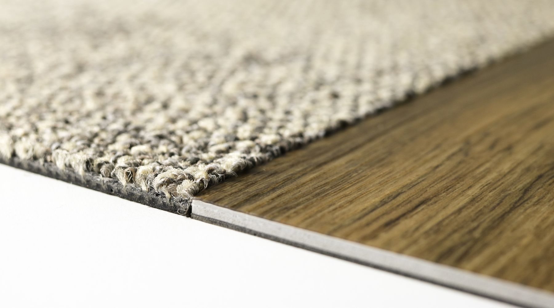 Interface Carpet Tile And Lvt At The Same Height Creating The
