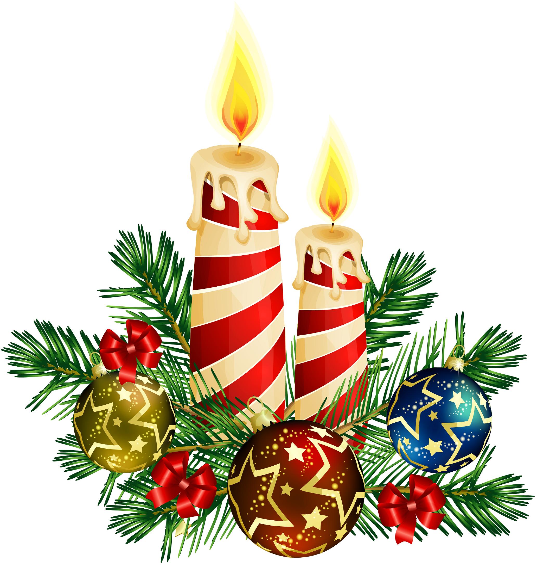 Christmas candle centerpiece clip art large   Xmas ...
