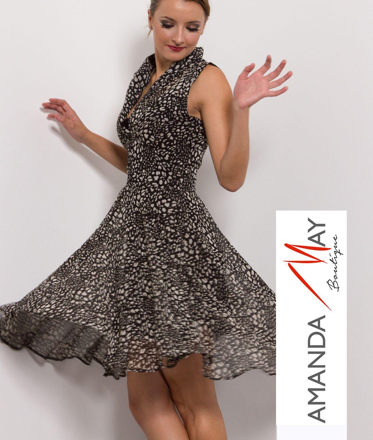Amanda May Swing Panel Drop Waist Dress - getthisgetthis