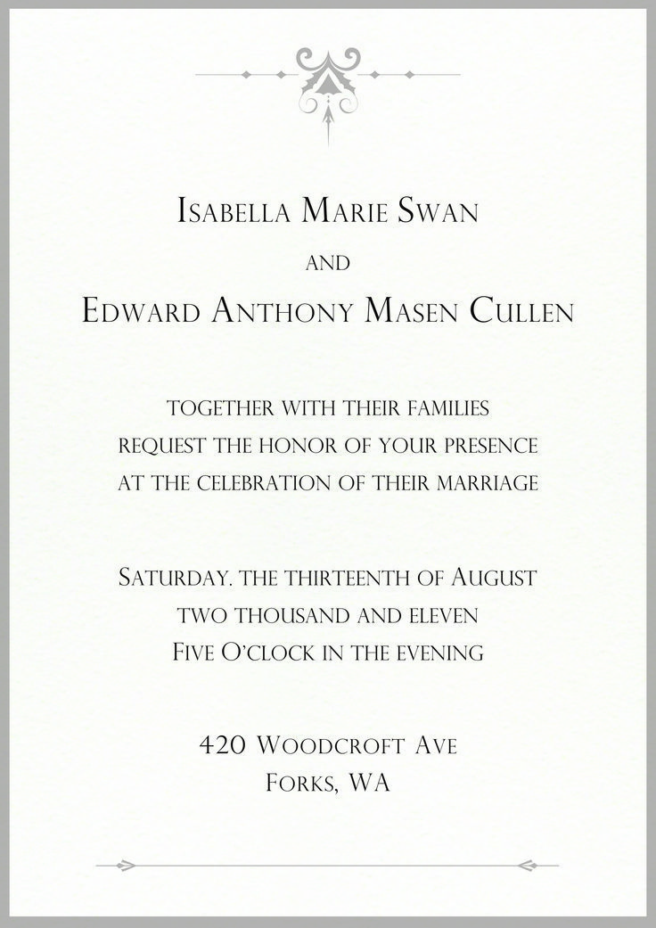Image Result For Twilight Bella And Edward Wedding Invitation Twilight Quotes Twilight Twilight Bella And Edward