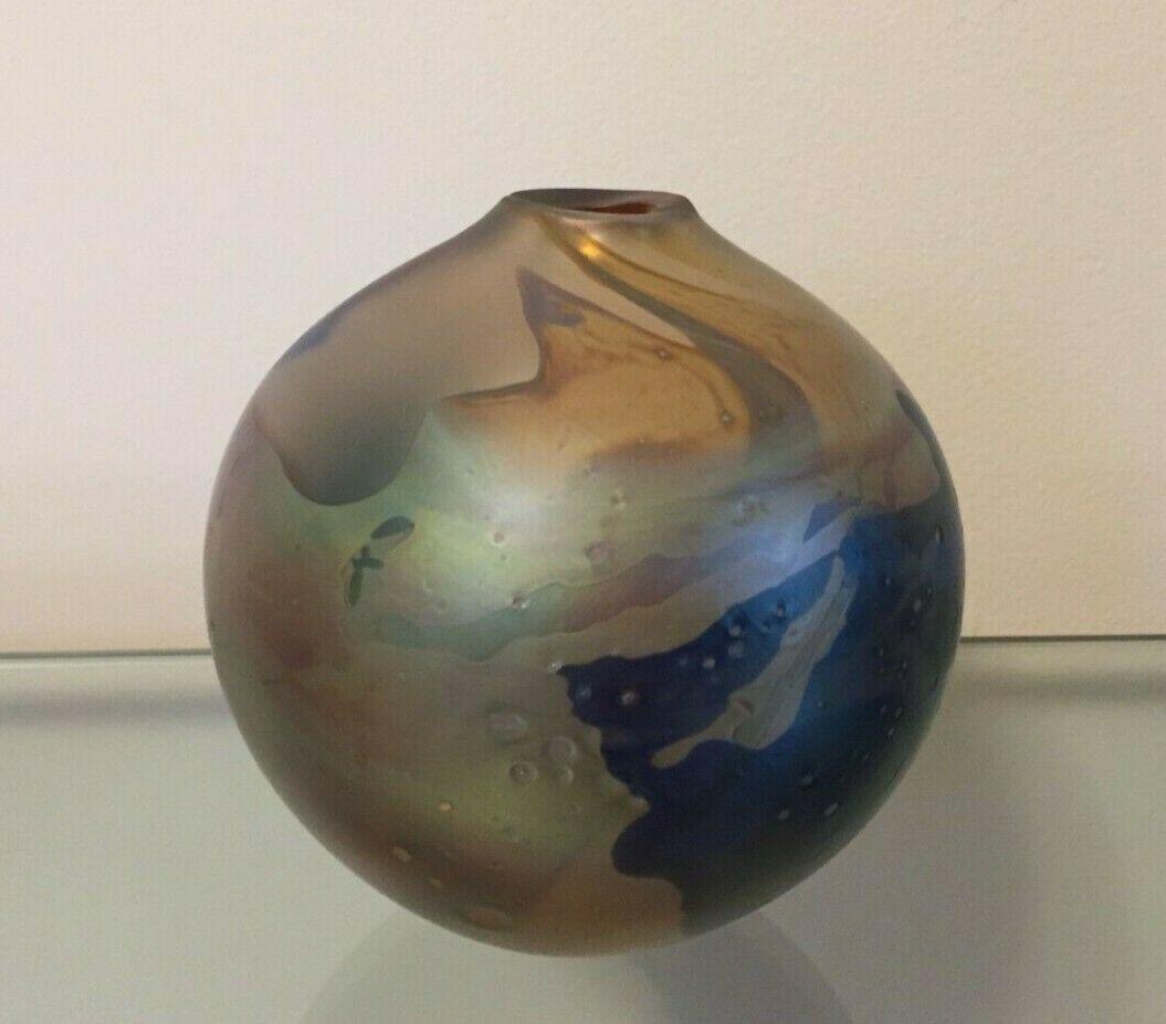 Art glass vase by peter vanderlaan in 2020 art glass