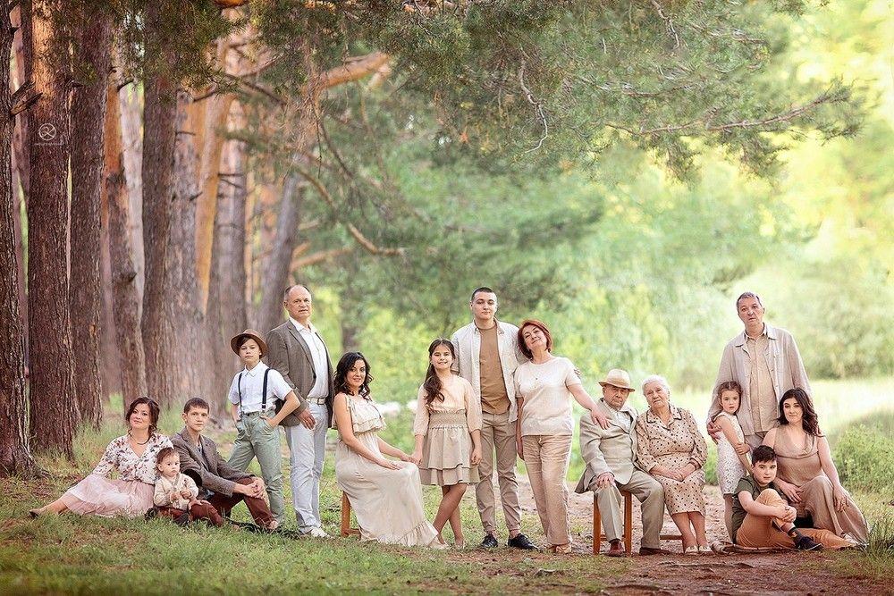 Cемейная фотосессия, фотосъемка на природе | Cемейный фотограф - Настя Оклот #extendedfamilyphotography