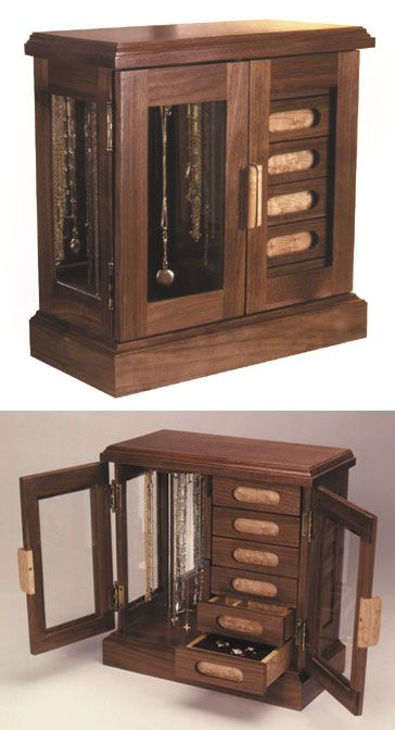 Wood Magazine Jewelry Box Plans : magazine, jewelry, plans, Jewelry, Woodworking, Magazine, Plans,, Storage,
