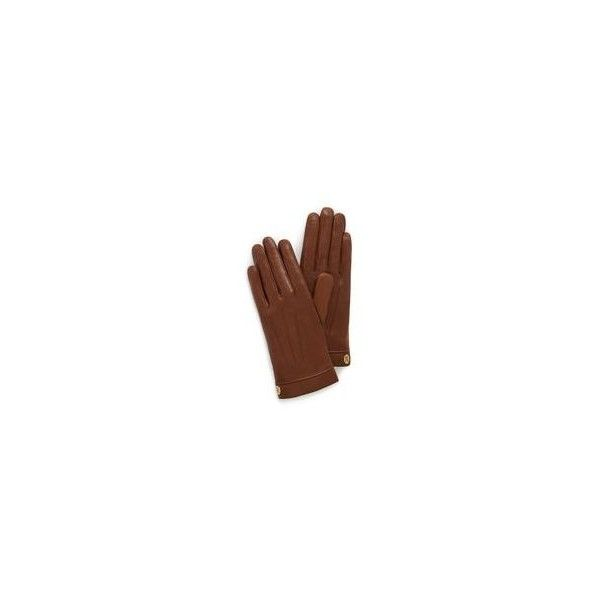5960baa4d19de Mulberry Soft Nappa Leather Gloves ( 250) ❤ liked on Polyvore featuring  accessories