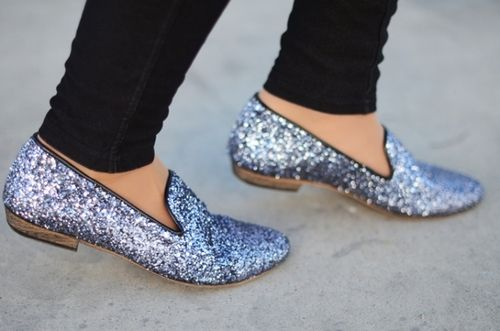 with a sparkle in her step...