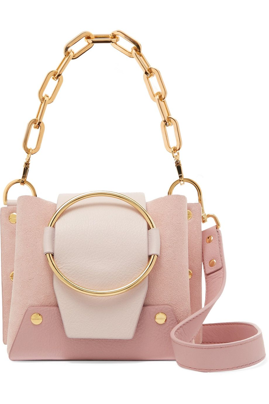 Delila Mini Color-block Textured-leather Shoulder Bag - White Yuzefi Prices Free Shipping Fast Delivery Clearance Shop Offer Brand New Unisex Online Ad2qdxTTbG