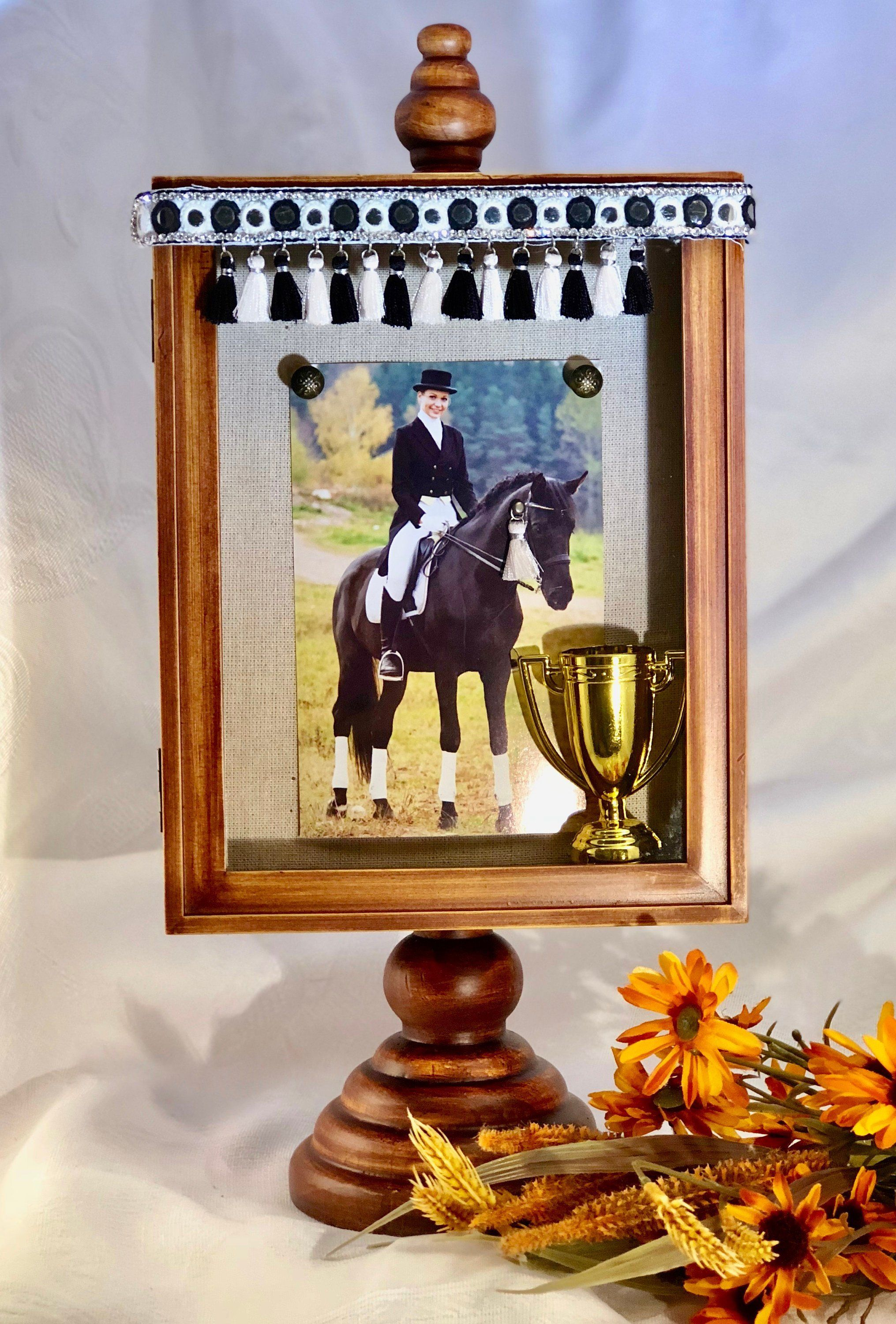 Horse Frame with necklace, Horse Shadow Box, Horse lover gift, Personalized Horse Photo Frame, Horse Sympathy gift, Over the Rainbow US by OvertheRainbowUS ...