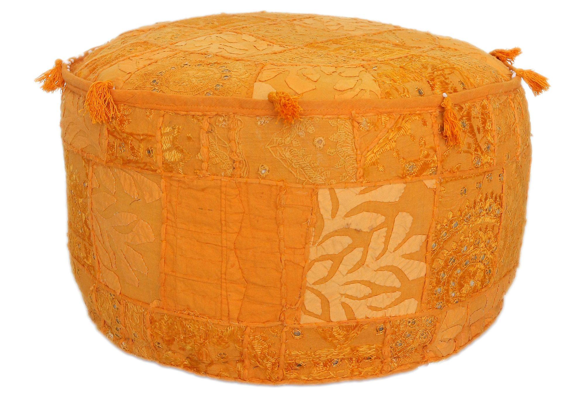 One Kings Lane - The Life Exotic - Fez Pouf, Orange   Furniture ...