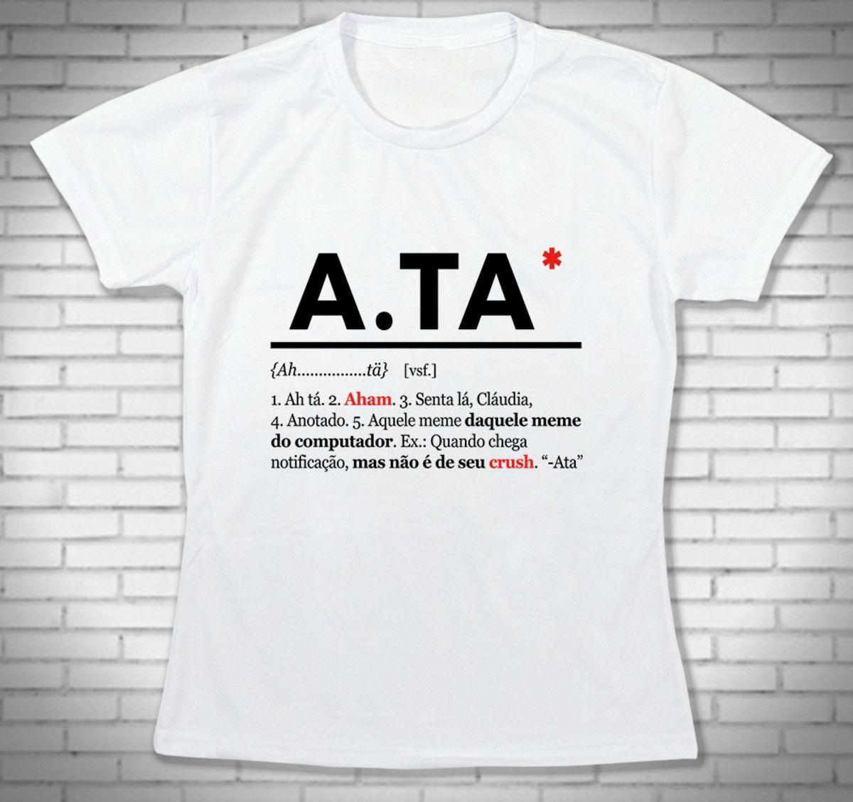 9008c54ccd Camiseta ATA - Babylook Branca no Elo7
