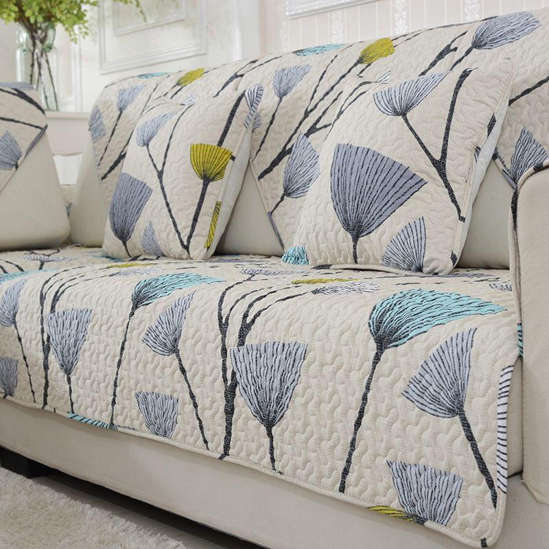 Cheap sencillo y moderno sof de flores cubre en el sof for Fundas protectoras para muebles de jardin