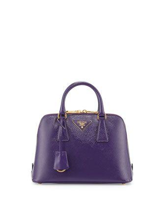 df87b3f9e1 Saffiano Vernice Mini Promenade Bag, Violet (Viola) by Prada at Neiman  Marcus.