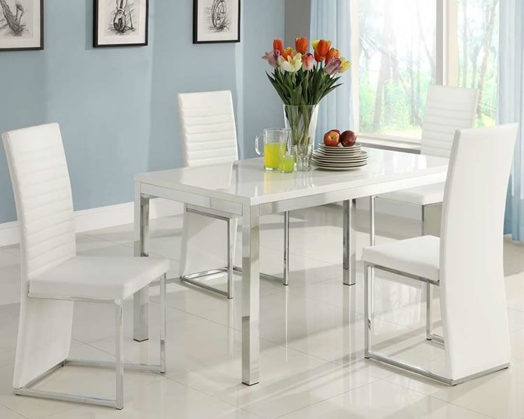 Modern White Dining Table Set Images Clarice Modern Dining Set