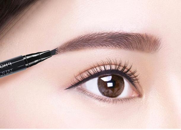 3 Colors Fine Sketch Fork Tip Eyebrow Enhancer Pen