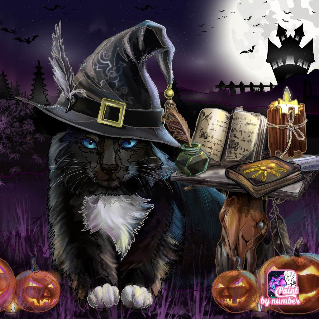Pin By Marie Hart On Halloween - Cats