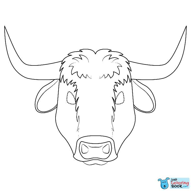 Ox Mask Coloring Page Geografiya