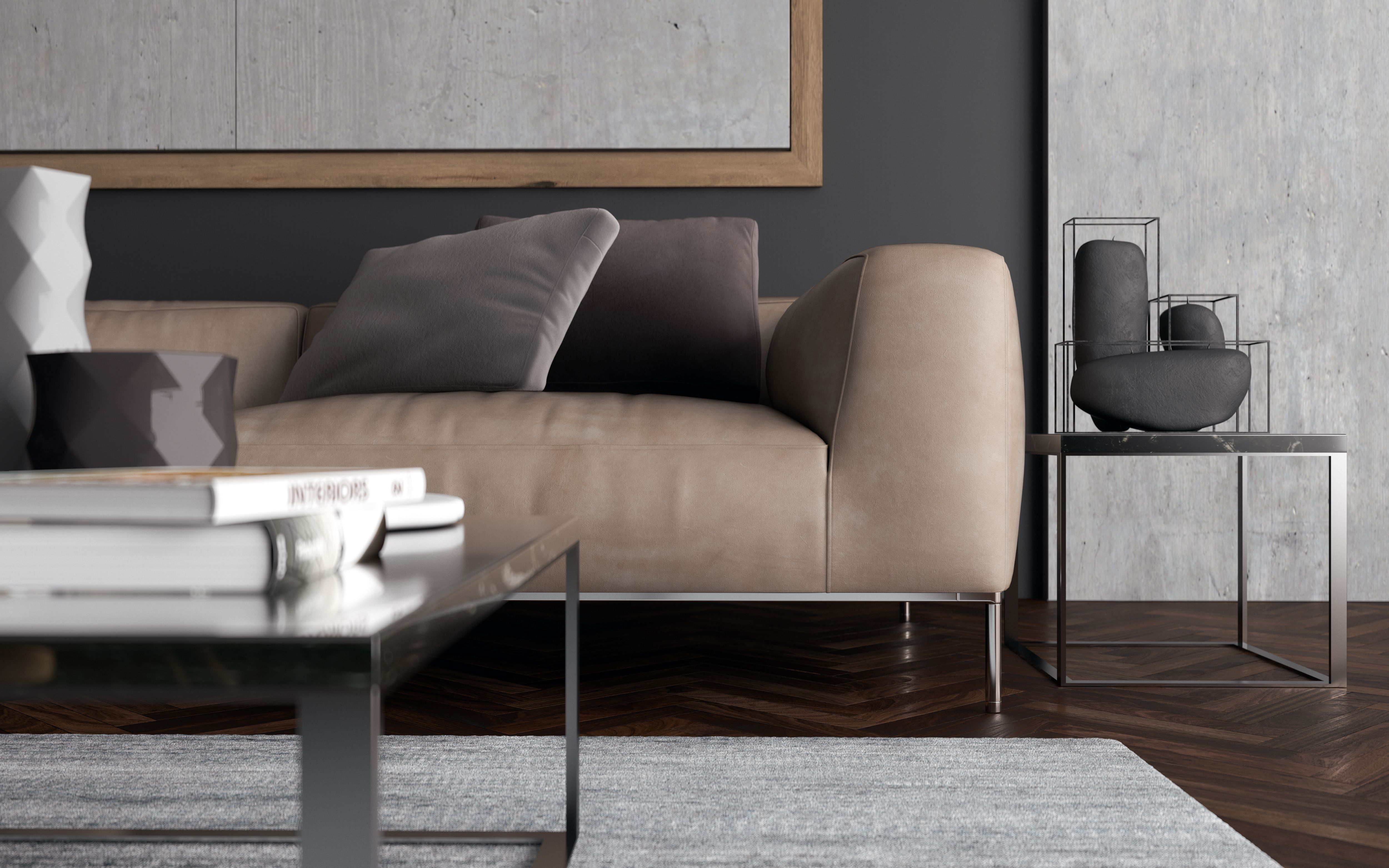 Frank Sofa B&B Italia [Render By Mfdesign]