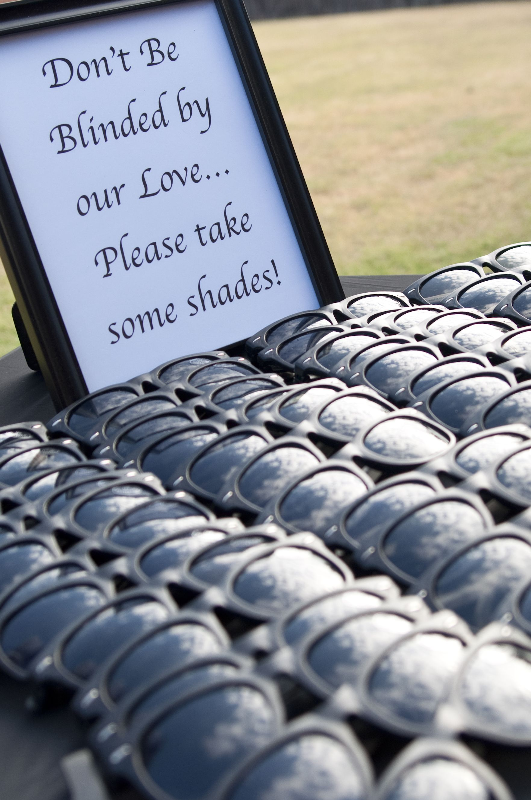 Such a great idea for outdoor weddings.