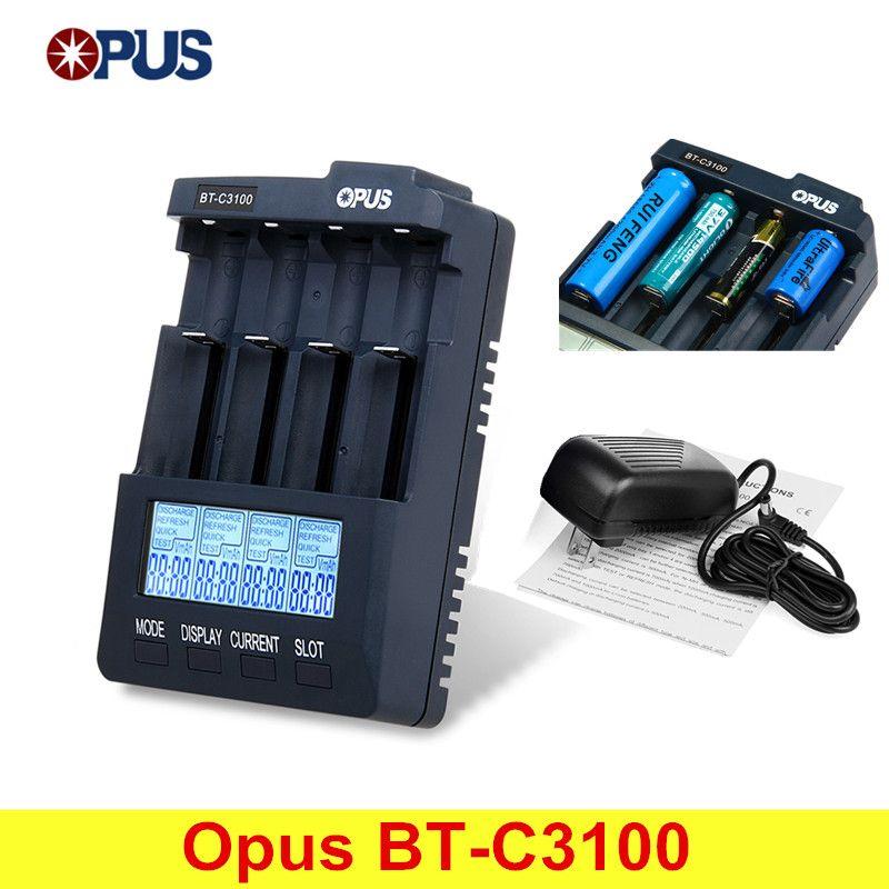 Best Price Original Opus Bt C3100 V2 2 Smart Digital Intelligent 4 Lcd Slots Universal Battery Charger For Rechargeable Batt Universal Battery Charger Slot Lcd