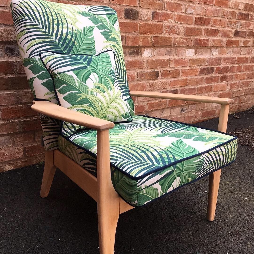 Tropical Mid Century Modern Parker Knoll Chair Knoll Chairs