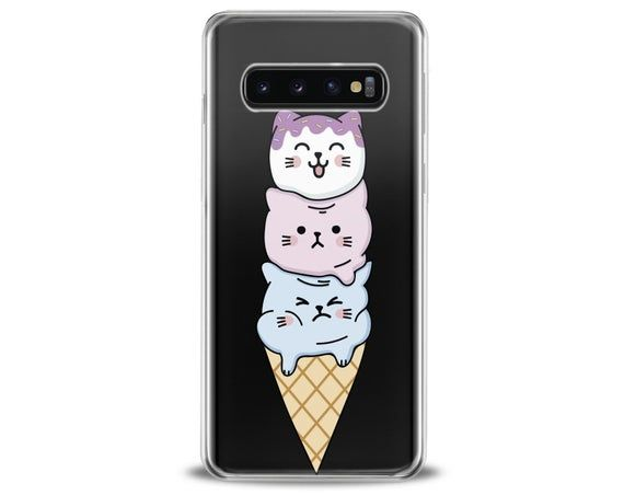 Ice-cream art Samsung S10e Cover Kawaii cats Note 9 Phone case | Etsy