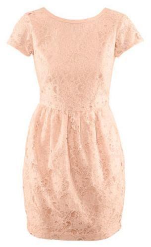 Bridal Shower Attire: H Powder Pink Lace Dress