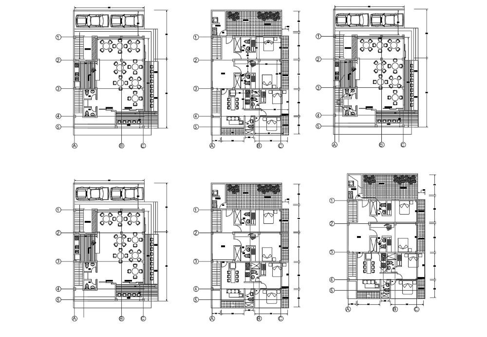 Architectural Plan Of The Hotel Building With Detail Dimension In Dwg File Cadbull In 2020 Hotel Floor Plan Hotel Building Hotel Floor