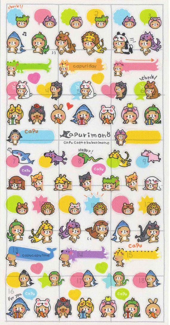 Kawaii Japan Sticker Sheet Assort: Cute Costumed Bears by mautio
