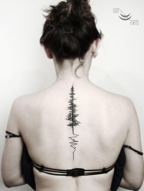 Photo of Super Pine Tree Tattoo Spine Simple Ideas