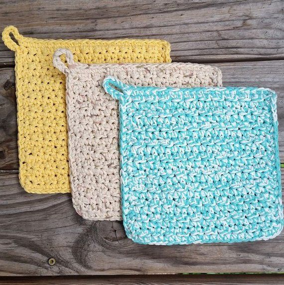 Crochet Potholder Pattern Bundle, Textured Potholder, Mesh Potholder, Kitchen Crochet Pattern #crochetpotholderpatterns Crochet Potholder Pattern Bundle, Textured Potholder, Mesh Potholder, Kitchen Crochet Pattern #crochetpotholderpatterns