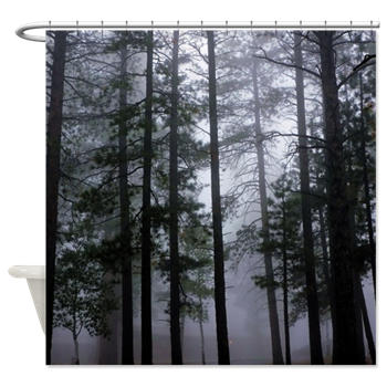 Ponderosa Pine Tree Forest Shower Curtain Ponderosa Pine Forest