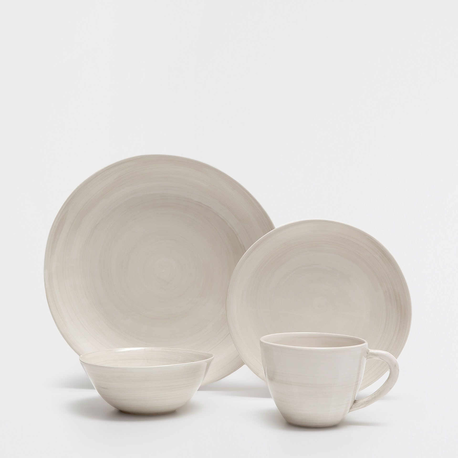 Zara Natural Coloured Earthenware Tableware Dinnerware Tableware Tableware Dinnerware