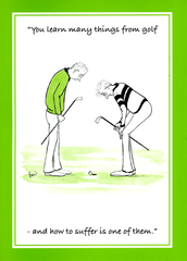 Funny Golf Card By Spring Chicken