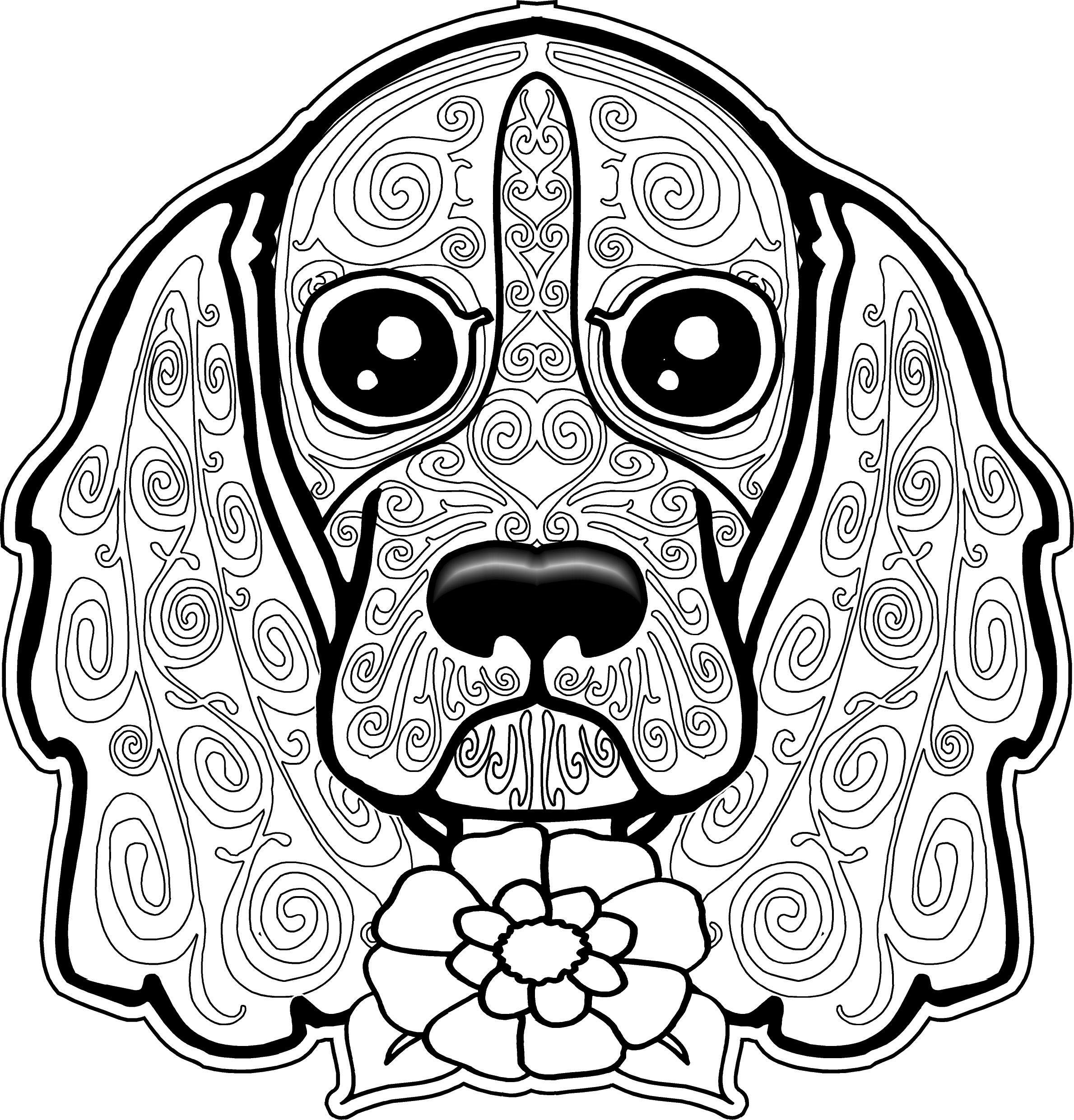 Coloring Page Of A Cute Dog Puppy Coloring Pages Farm Animal Coloring Pages Dog Coloring Page