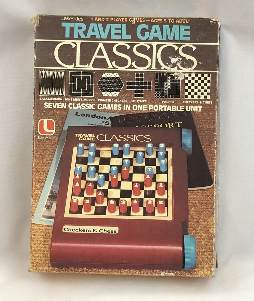 Vintage 1981 Lakeside Travel Game Classics Checkers Chess