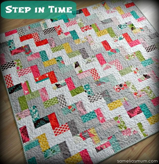 Step in Time Quilt Tutorial from Samelia's Mum. Easy enough for a ... : quilting tutorials - Adamdwight.com